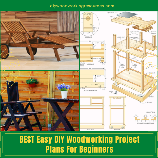 BEST Easy DIY Woodworking Project Plans For Beginners
